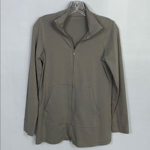 Eileen Fisher Organic Cotton Zip Up Size PS.